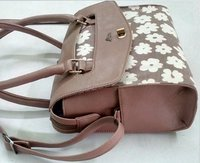 Flower Printed Hand Bag
