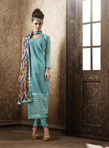 Modish Blue Georgette Embroidery Designer salwar suit