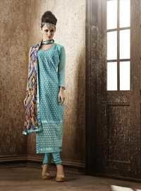 Modish Blue Georgette Embroidery Designer salwar suit