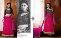 Pink Chiken Work With Embroidered Kasmeera Suit