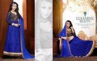 Fancy Blue Kasmeera Embroidered Lehenga Suit