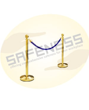 Queue Post with SS Chain (With Velvet Cover)