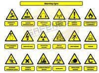 Hazard Warning Safety Signs