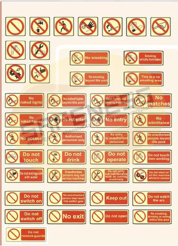 Regulatory Safety Signs