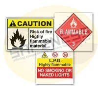 Flammable Material Safety Signs
