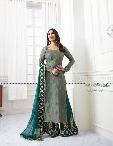 9009-9014 straight suits catalog in georgette by sophie