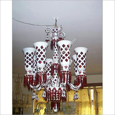 Coloured Cut Glass Chandeliers