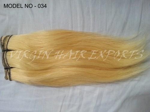 Blond Color Virgin Indian Hair