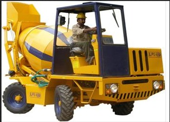 Self Loading Concrete Mixer on Rent