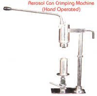 AEROSOL CAN SEALING MACHINE HAND OPERATED