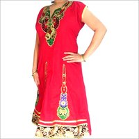 Long Red Kurti