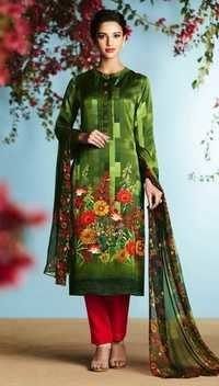 Green Georgette Stylish Suit