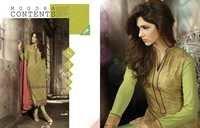 Mugdha Olive Green Georgette Embroidered Salwar Kameez