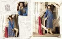 Mugdha Blue Georgette Embroidered Salwar Kameez