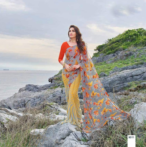 Printed Georgette Sarees India