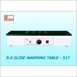 Slide Warming Tables