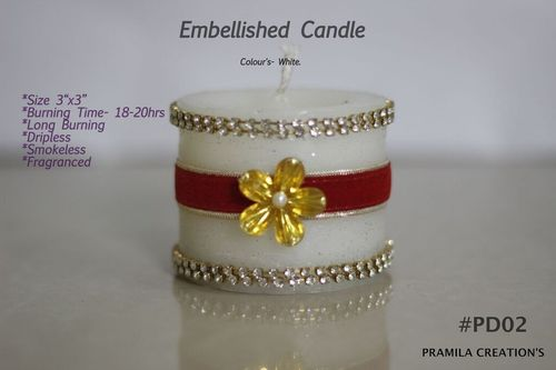 Designed Embellished Candles