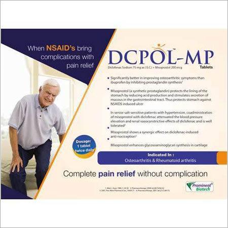 Diclofenac Sodium 75 Mg Misoprostol 200 Mg Tablets