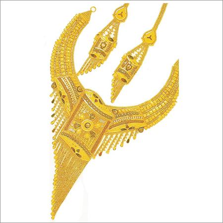 Designer Gold Plated Necklace Set