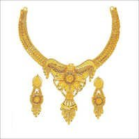 Fancy Gold Plated Necklace Set