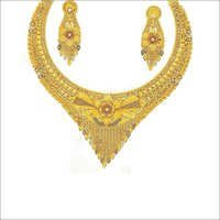 Indian Gold Plated Necklace Set