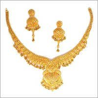 Ethnic Gold Plated Necklace Set