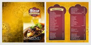 Menu Card designing