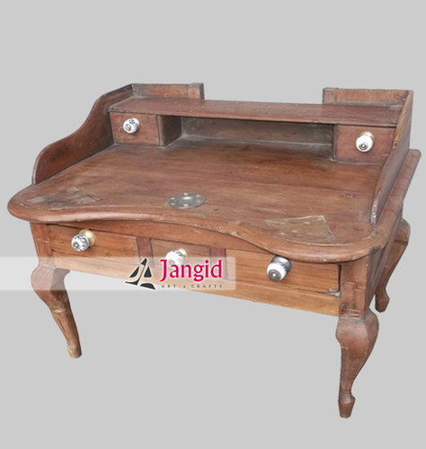 Antique Teak Wooden Money Desk