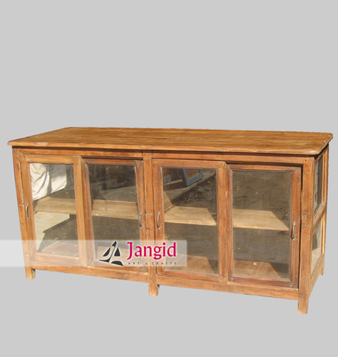 Teak Wooden Display Cabinet