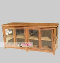 Teak Wooden Display Cabinet
