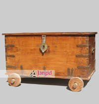 Antique Wooden Trunk Chest India