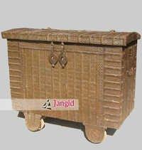 Antique Indian Wooden Storage Box