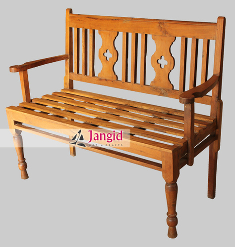 Indian Antique Teak Wooden Garden Bench