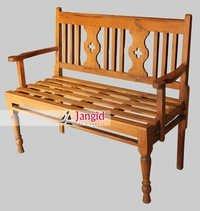 Indian Antique Teak Wooden Garden Bench