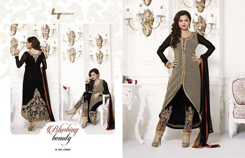 Net Plazo Designer Dress