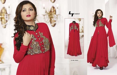 Red Colur Anarkali Dress