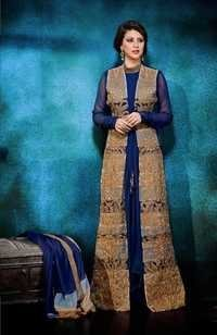 Buy Online Blue Georgette Embroidery salwar suit