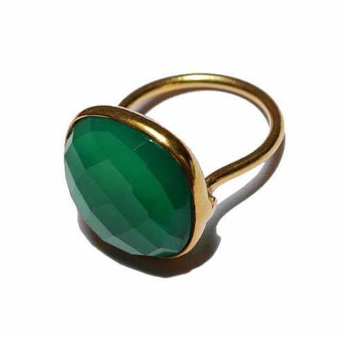 Green Onyx Gemstone Ring