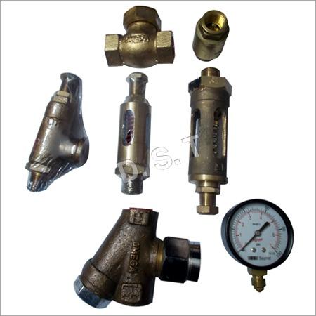 Steam Safety Valves NRV and Pressure Gauge