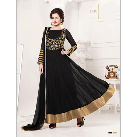 Attractive black anarkali york suits