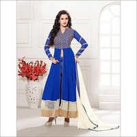 New white and blue anarkali suits