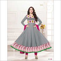 Designer gray and pink anarkali suits