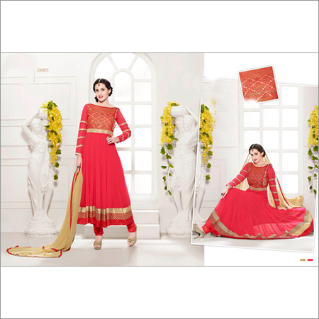 HEAVY FLOOR LENGTH RED ANARKALI SUIT