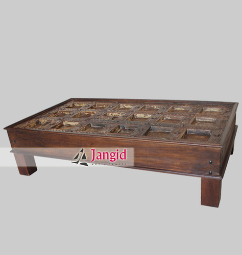 Indian Antique Door Remade Coffee Table