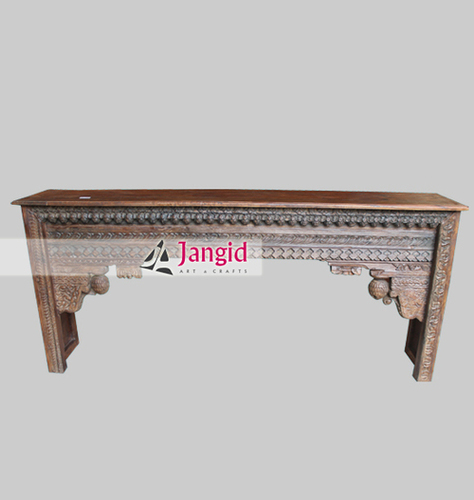 Indian Antique Hand Carved Console Table