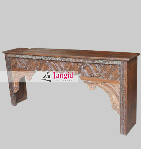 Antique Reproduction Carved Console Table India