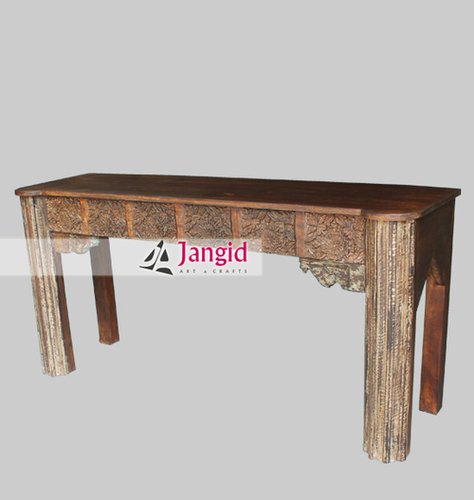 Antique Remade Hand Carved Console Table Design
