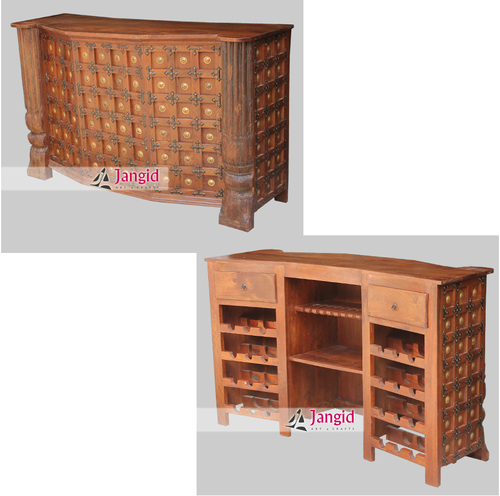 Hand Made Antique Reproduced Wine Bar Counter India