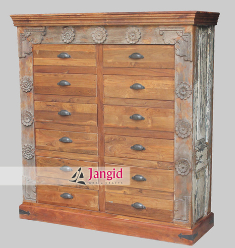 Antique Reproduction Wooden Drawer Chest