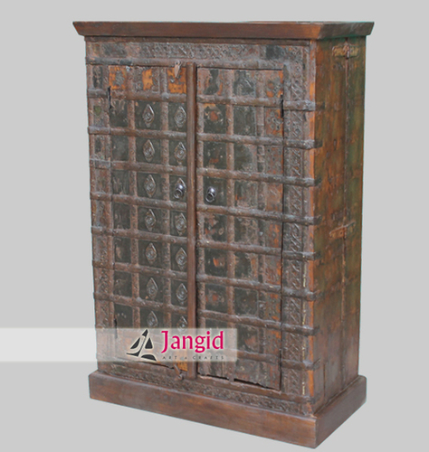 Indian Wooden Old Remade Almirah